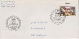 D 602) BRD MiNr 1229 FDC (gelaufener Umschlag): Posthaus Der Kaiserlich Taxis'schen Post, Augsburg (16. Jh.) - BRD