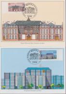 D 605) BRD MiNr 1461-1462 FDC (MK): Europa, Post: Palais Thurn Und Taxis, Fostgiroamt, Frankfurt Am Main - BRD