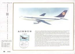 Feuillet CEF Premier Jour FDC Document  -  Airbus A300B - Aerei