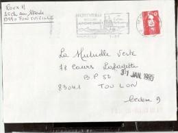 FLAMME  13 FONTVIELLE - Marcophilie (Lettres)