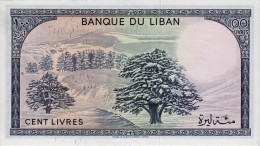 LEBANON 100 LIVRES BANKNOTE 1964-88 PICK NO.66 UNCIRCULATED UNC - Libanon