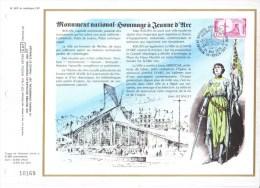 Feuillet CEF Premier Jour FDC Document  -  Hommage A Jeanne D'Arc  -  Rouen - Franz. Revolution