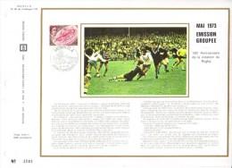 Feuillet CEF Premier Jour FDC Document  -  1973 -  Anniversaire De La Création Du Rugby - Rugby