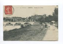 Limeuil ( Dordogne 24) - Entrée De La Ville ( Animée PDS 513 Cachet Facteur Boitier ) - France