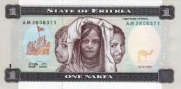 ERITREA 1 NAKFA BANKNOTE 1997 AD PICK NO.1 UNCIRCULATED UNC - Erythrée