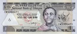 ETHIOPIA 1 BIRR BANKNOTE 2008 AD PICK NO.46 UNCIRCULATED UNC - Ethiopie