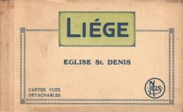 CARNET DE 15CPA LIEGE EGLISE ST DENIS EDITEUR CHARLES COOMANS - Luik