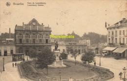 CPA  GARE DU LUXEMBOURG LUXEMBURG STATION - Spoorwegen, Stations