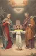 CPA LITHO EGEMES  HEILIGE FAMILIE LA SAINTE FAMILLE THE HOLY FAMILY PAUL BECKERL PINX - Saints