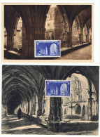 1949 -  2 CM - Abbaye De SAINT WANDRILLE- Dessin De H. Cheffer Pour L ´une D´ Elles - Yvert Et Tellier N° 842 - 1940-49
