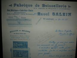 YVETOT - Raoul SALEIN - Fabrique De Boissellerie - Atelier à AUZEBOSC / Moule à Beurre / Yvelines - Agricoltura