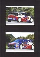 Press Release Photographs  -  2  15 X 10 Cms Official Citroen Photos - Citroen DS3 WRC - Sebastien Loeb - Rally Racing