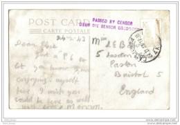 Cape Town Censure  Civile  1943 - Afrique Du Sud