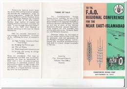 Pakistan 1970, F.A.O., Farming, Tractor - Pakistan