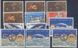 Lot Belgien Michel Nr. 2375 - 2376 / 2419 - 2420 / 2458 - 2459 / 2506 - 2507 ** postfrisch / o gestempelt used