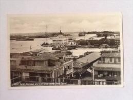 PORT SAID PORTO ED ENTRATA CANALE SUEZ 1937 VIAGGIATA -N1-- - Port Said