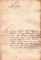 Bruxelles 1728 - Droffart De Brabant - Concernant Un Prisonnier - Manuscrits