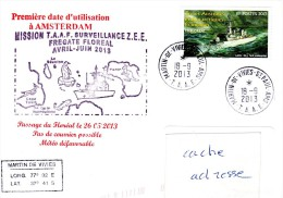 FS FLOREAL Aux TAAF Obl. St Paul Amsterdam 18/09/13 - Storia Postale
