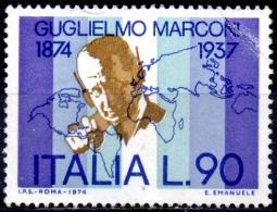 ITALY 1974 Birth Centenary Of Guglielmo Marconi (radio Pioneer) - 90l Marconi & World Map MNG CREASED CHEAP PRICE - 1971-80: Ungebraucht