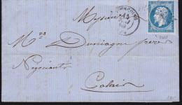 France - Lettre 1860 - Tourcoing Pour Calais - Marcophilie (Lettres)