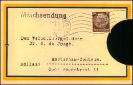 1934: Adresse Einer Mischsendung Nach Holland Mit 10 Pfg. Hindenburg Wz. 2, I.G.Werk - Deutschland