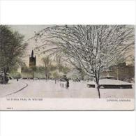 CND1769C-LFTD3083TFPAR.Tarjeta Postal De CANADA.Parque Victoria Nevado.Arboles.Edificios. LONDON - Sin Clasificación