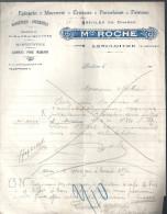 Maison Roche Epicerie Mercerie Cristaux Porcelaine Faïence Articles De Chasse à Lencloitre (86) Des Années 1930? - Artigianato