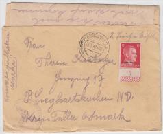 Brief  Mit Inhalt -  12 Pfennig  Überdruck Ukraine  - Stempel Warschau 1942 - Deutschland