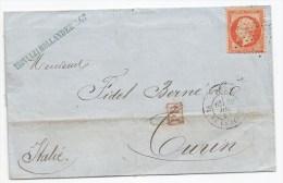 """Lettre - SEINE - PARIS - Etoile Muette S/TP Napoléon III N°23 Luxe + """"PD"""" Rouge + Càd T.17 - 1863 - 1862 Napoleon III"""