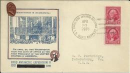USA ANTARTIDA CC EXPEDICION BYRD 1934-5 AL POLO SUR MAT DEL BUQUE SS JACOB RUPPERT SECOND BYRD ANTARCTIC EXPEDITION - Spedizioni Antartiche