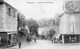 DONZENAC AVENUE DE TOULOUSE ANIMEE 1907 - Frankrijk