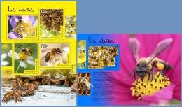 tg14501ab Togo 2014 Flower Bees 2 s/s