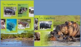 tg14508ab Togo 2014 Hippopotamuses 2 s/s