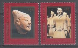 PAIRE NEUVE DES NATIONS UNIES GENEVE - LES GUERRIERS D´ARGILE (PATRIMOINE MONDIAL DE L´UNESCO) N° Y&T 340/341 - Archeologia