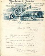 59.NORD.LILLE.MANUFACTURE DE CONFECTION.FL.CREPIN 92,96 RUE DU PORT. - Textile & Vestimentaire