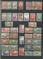 Lots De 38  TIMBRES Divers  1939/42  Oblitérés :  Dont 2  Poste Aérienne  Et 8 Neufs - Maroc (1891-1956)