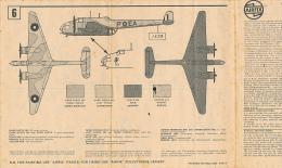 Ancienne Fiche De Montage, Avion H.P. HAMPDEN, Airfix, 1/72 Scale Model Construction Kit, 4 Pages (3 Langues) - Maquettisme