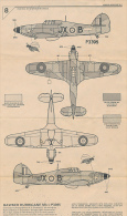 Ancienne Fiche De Montage, Avion HAWKER HURRICANE MkI, Airfix, Recto-Verso, 2 Pages (en 3 Langues) - Maquettisme