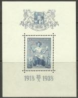 TSCHECHOSLOWAKEI 1938 Block 5 MNH - Tchécoslovaquie
