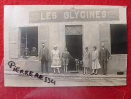 LES GLYCINES CARTE PHOTO BANQUETS GARAGE TELEPHONE - Autres