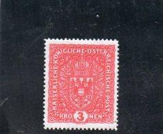 AUTRICHE 1916-8 * CARMIN