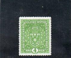 AUTRICHE 1916-8 * VERT FONCE'