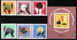PL 1963 MI 1418-23 + BL 30 - Neufs
