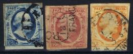 Netherlands: 1852, NVPH 1 - 3 Used , B Choise - Gebraucht