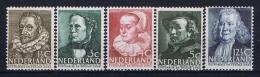 Netherlands: 1938 NVPH 318 - 322 MNH/** - Ongebruikt
