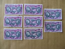 LOT DE 8 TIMBRES OBLITERES 1972 HELENE BOUCHER ET MARYSE HILSZ A 10 F N° 47  YT - Airmail
