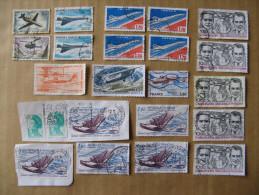 LOT DE 21 TIMBRES OBLITERES 1960 à 1985 N° 40-41-43-49-50-51-55-56-58  YT - Airmail