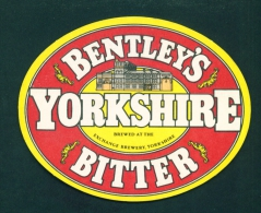 UNITED KINGDOM  -  Bentley's Yorkshire Bitter  Beer Mat  As Scan - Beer Mats