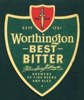 UNITED KINGDOM  -  Worthington Best Bitter  Beer Mat  As Scan - Beer Mats