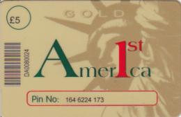 Carte UK Thème USA Statue De La Liberté America 1st - Royaume-Uni
